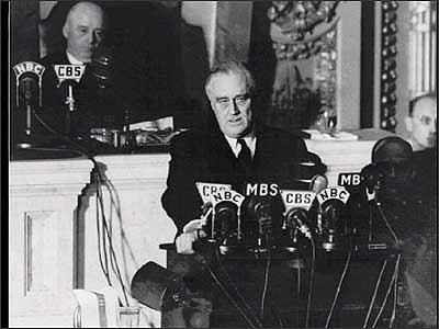 FDR Declares War