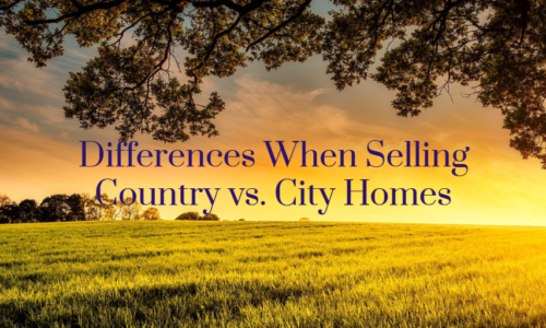 Differences When Selling Country vs. City Homes