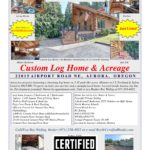 Aurora Oregon, Log Home, Log House, 97002
